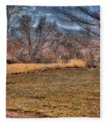 The Last Days Of Fall Fleece Blanket