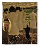The Last Fashion Show- Old Mannequins Fleece Blanket