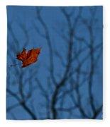 The Last Leaf Fell Fleece Blanket