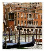 The Last Pigeon In Venice Fleece Blanket