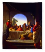 The Last Supper By Carl Heinrich Bloch Fleece Blanket