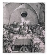 The Last Supper From The 'great Passion' Series Fleece Blanket