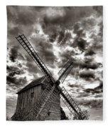 The Last Windmill Fleece Blanket