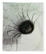 The Laughing Spider Fleece Blanket