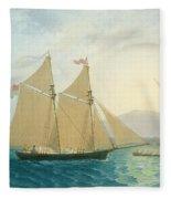 The Launch La Sociere On The Lake Of Geneva Fleece Blanket