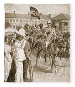 The Leader Of The Allies, Illustration Fleece Blanket