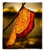 The Leaf Across The River Fleece Blanket