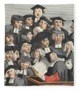 The Lecture, Illustration From Hogarth Fleece Blanket