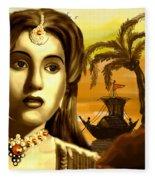 The Legend Actress Madhubala Fleece Blanket