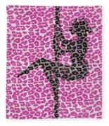 The Leopard Stripper Fleece Blanket