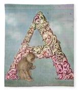 The Letter A Fleece Blanket