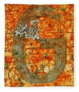 The Letter G With Lichens Fleece Blanket