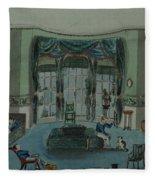 The Library, C.1820, Battersea Rise Fleece Blanket
