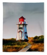 The Light At Covehead Harbour Fleece Blanket