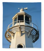 The Lighthouse At Mevagissy Fleece Blanket