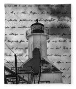 The Lighthouse Poem Fleece Blanket