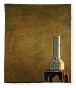 The Lighthouse - Port Washington Fleece Blanket