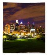 The Lights Of Philadelphia Fleece Blanket