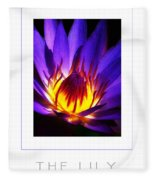The Lily Poster Fleece Blanket