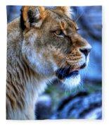 The Lioness Alert Fleece Blanket