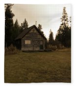 The Little Cabin In The Woods Fleece Blanket