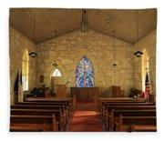 The Little Church Of La Villita Fleece Blanket