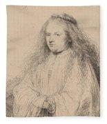 The Little Jewish Bride Fleece Blanket