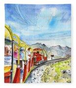 The Little Train Of Artouste Fleece Blanket