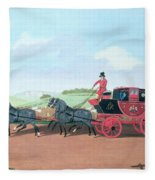 The Liverpool And London Royal Mail Coach, 1812 Oil On Canvas Fleece Blanket