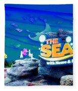 The Living Seas Signage Walt Disney World Fleece Blanket