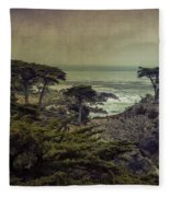 The Lone Cypress Fleece Blanket