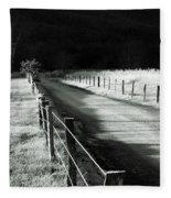 The Lone Photographer Fleece Blanket
