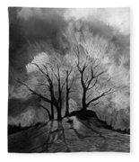The Lonely Grave Fleece Blanket