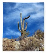 The Lonely Suguaro Fleece Blanket