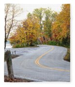 The Long And Winding Road Fleece Blanket