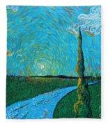 The Long Blue Road Fleece Blanket