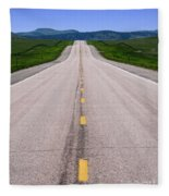 The Long Road Ahead Fleece Blanket