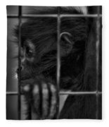 The Look Of Captivity Black And White Fleece Blanket