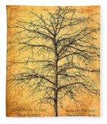 The Lord Jesus Is The Tree Of Life Fleece Blanket