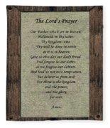 The Lord's Prayer Fleece Blanket