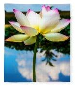 The Lotus Blossom Fleece Blanket