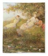 The Lotus Eaters, 1893 Fleece Blanket