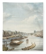The Louvre, From Views On The Seine Fleece Blanket