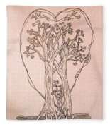The Love And Celebration Of The Maple Tree Family Fleece Blanket