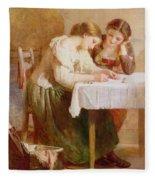 The Love Letter, 1871 Fleece Blanket