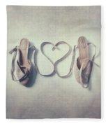 The Love Of A Ballerina Fleece Blanket