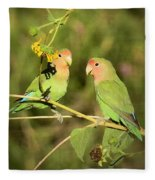 The Lovebirds  Fleece Blanket