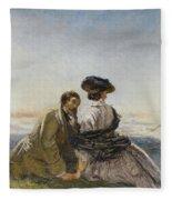 The Lovers Fleece Blanket