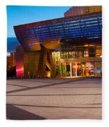 The Lowry Complex At Dusk, Salford Fleece Blanket