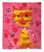 The Lucky Cat Fleece Blanket
